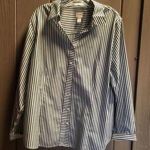 Stylish Chico's button down shirt- work ready! 3.5